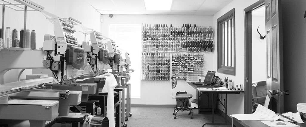 Made in USA - We embroidered all of our goods in our studio.Richmond, Virginia