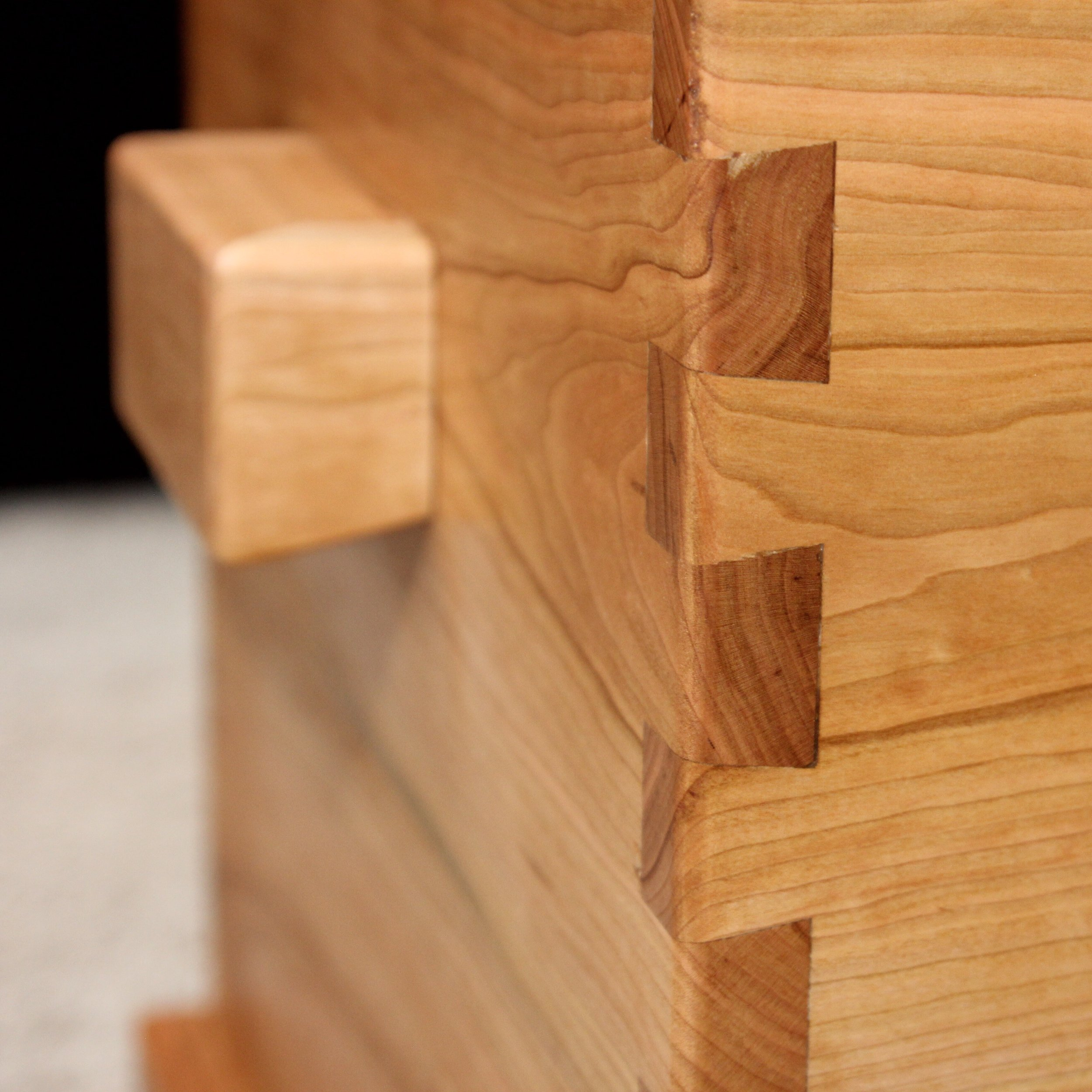 Dovetail joinery for strength and beauty.
