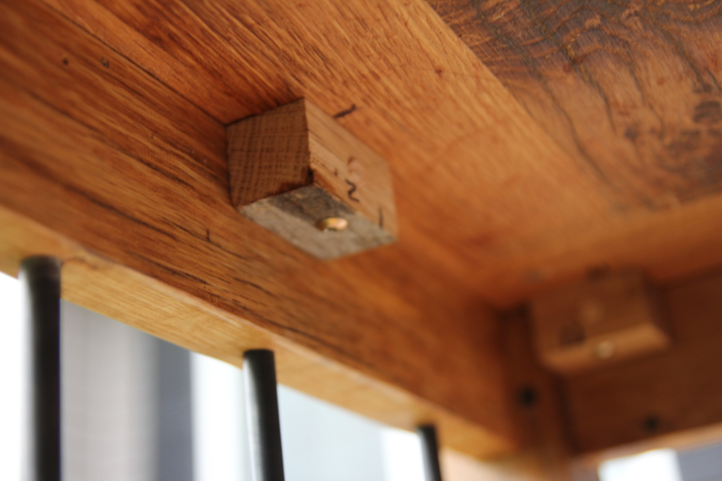 Floating Table Top Mounts to prevent cracking and warping.