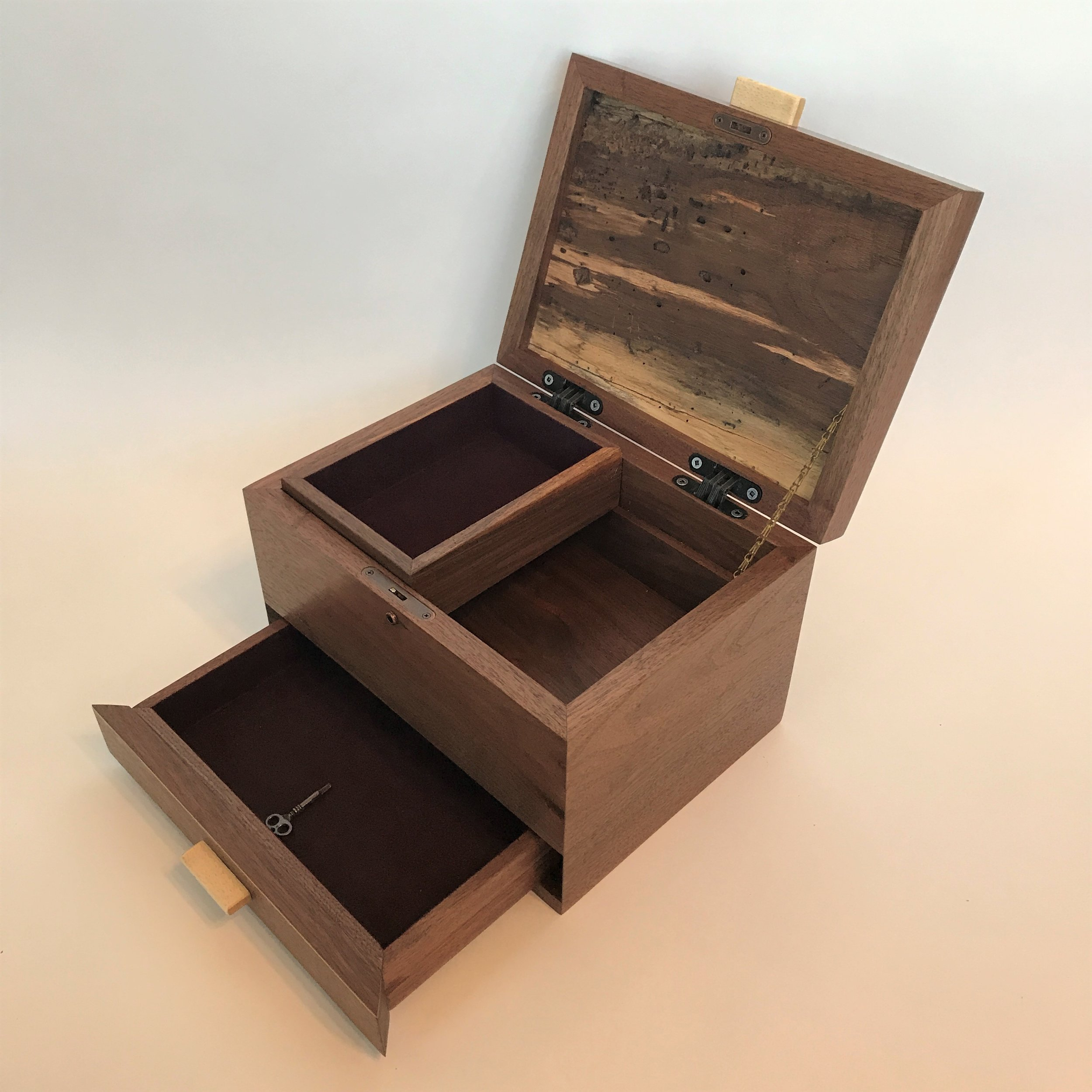 Custom Walnut Keepsake Box