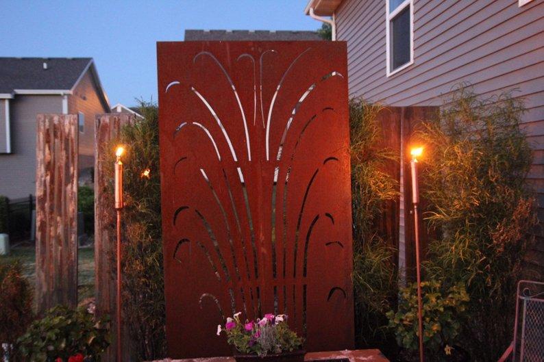 Patio Yard Metal Privacy Screens, Walls, Yard Art