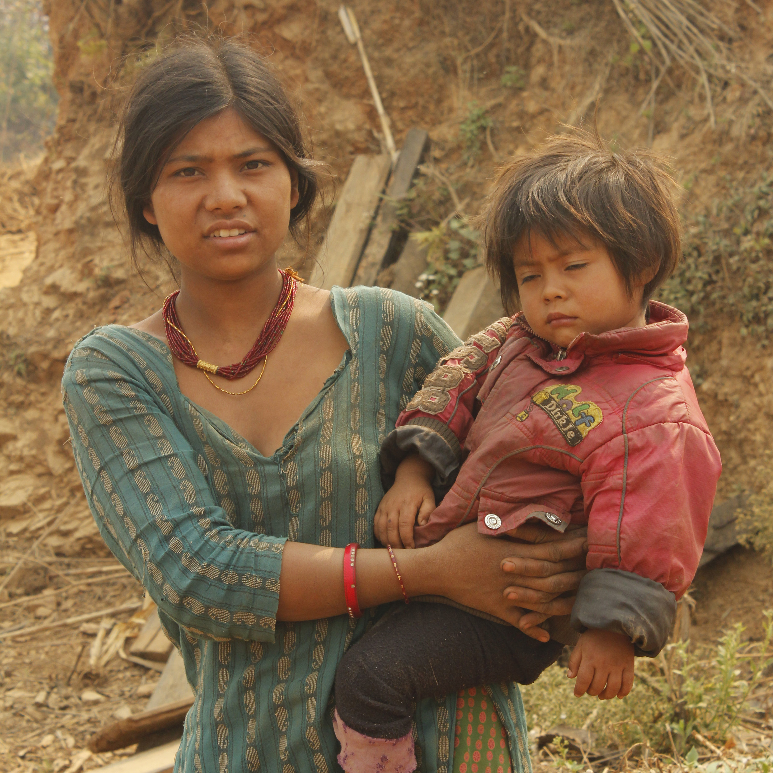 Nirjuala Napit, 23, with her daughter.