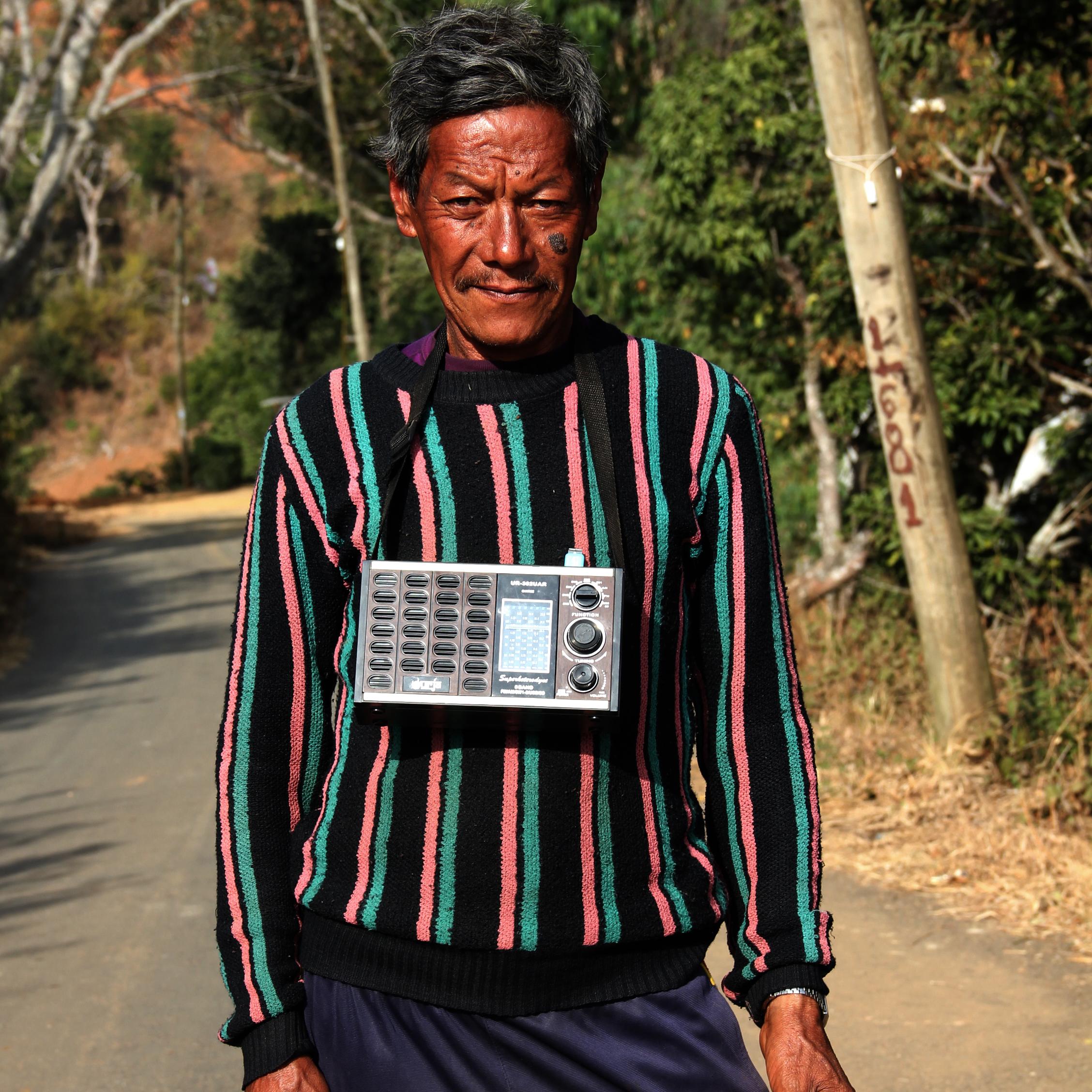 Man Bahadur Pahari, 58, a quiet soul who loves animals and classic Nepali songs.