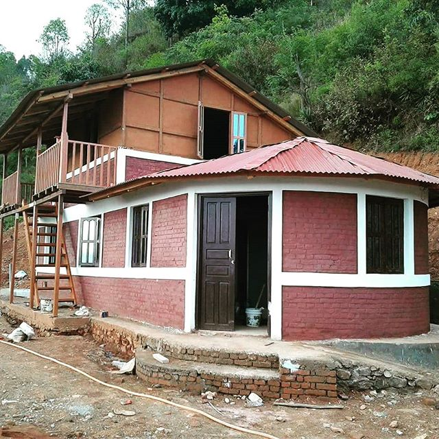 The Mohan Narayan Shrestha memorial community center nears completion in Barbandi, Kavre. Next will be programs to promote employment training, agricultural and health in Barbandi and the entire region.