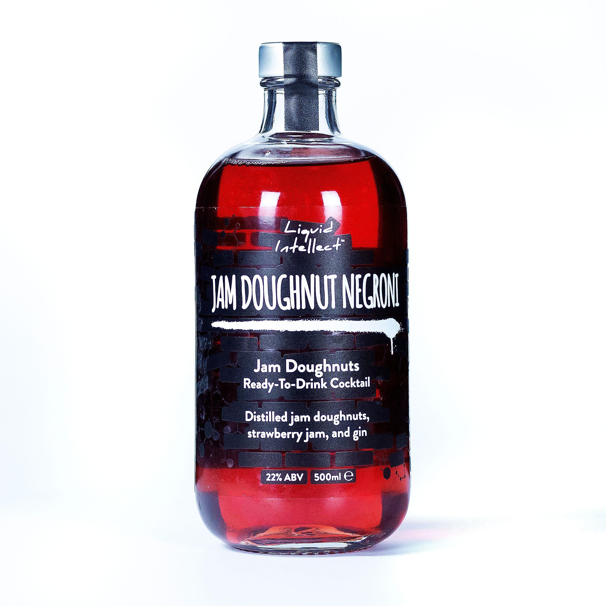 Jam Doughnut Negroni, part of the  Liquid Intellect bottle  range.