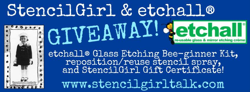 StencilGirl & etchall blog hop giveaway
