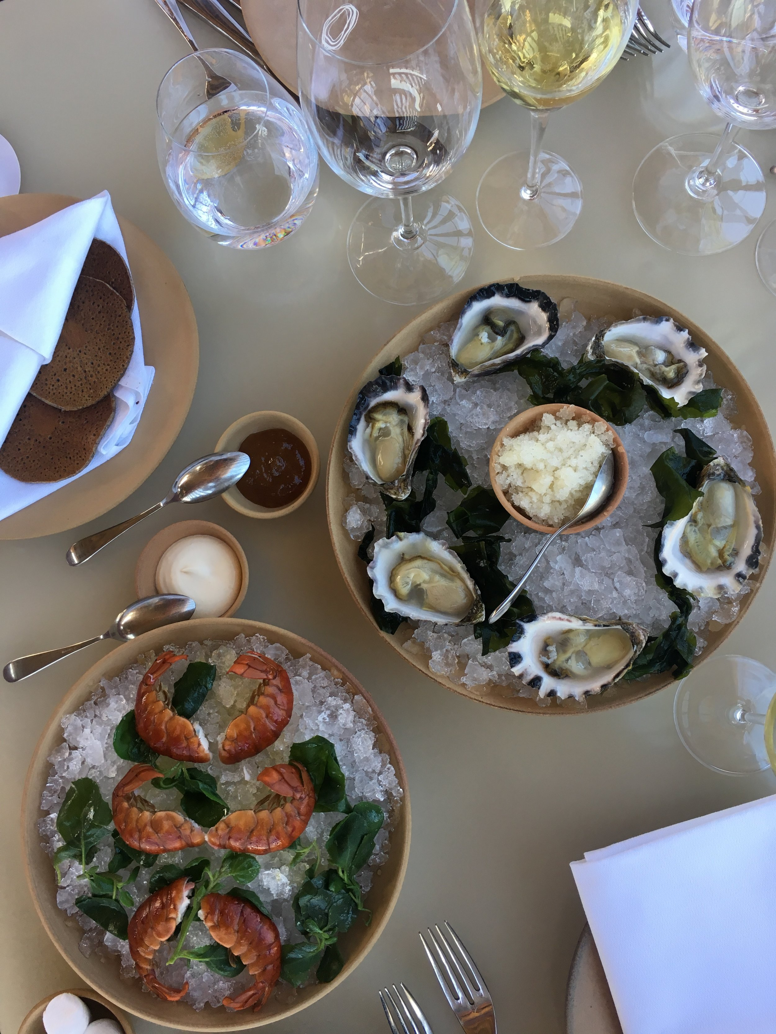 Oysters + yabbies