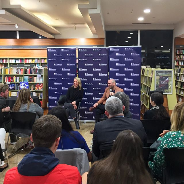 Such a privilege to interview my great friend and mentor @gcalombaris at his cookbook launch in Sydney last night! Thank you to everyone who came along. #JustGeorge is on sale now 📖