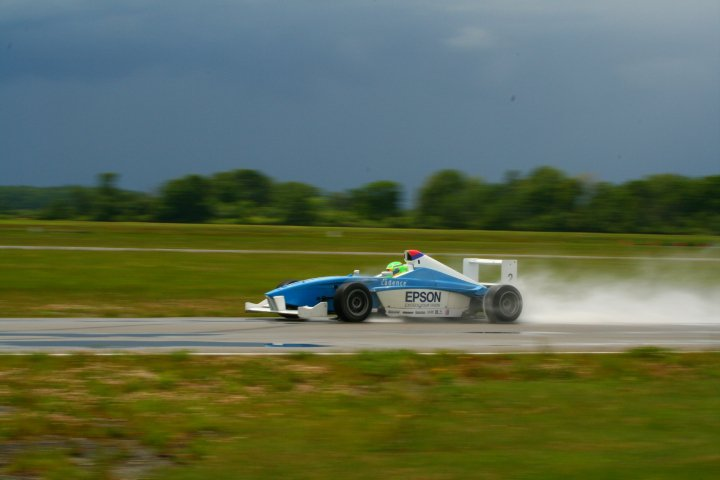 One of many private track days in the Formula BMW machine
