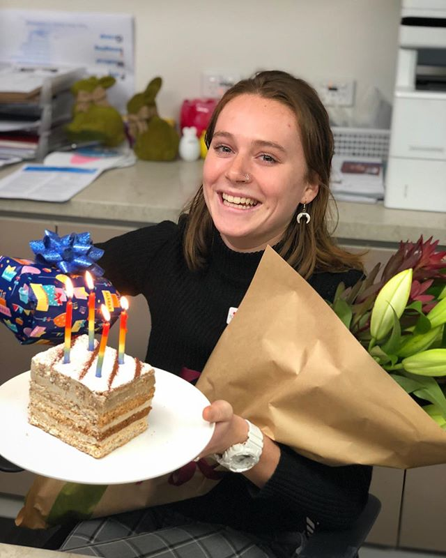 We finally got to celebrate with this fresh paramedics graduate today!!! Laura's our super fit & healthy, onsite environmentalist, with a true passion for healthcare. Happy belated birthday Laura!! Thank you for being an integral member of our team. 😍❤️🔥 #TFMfamily