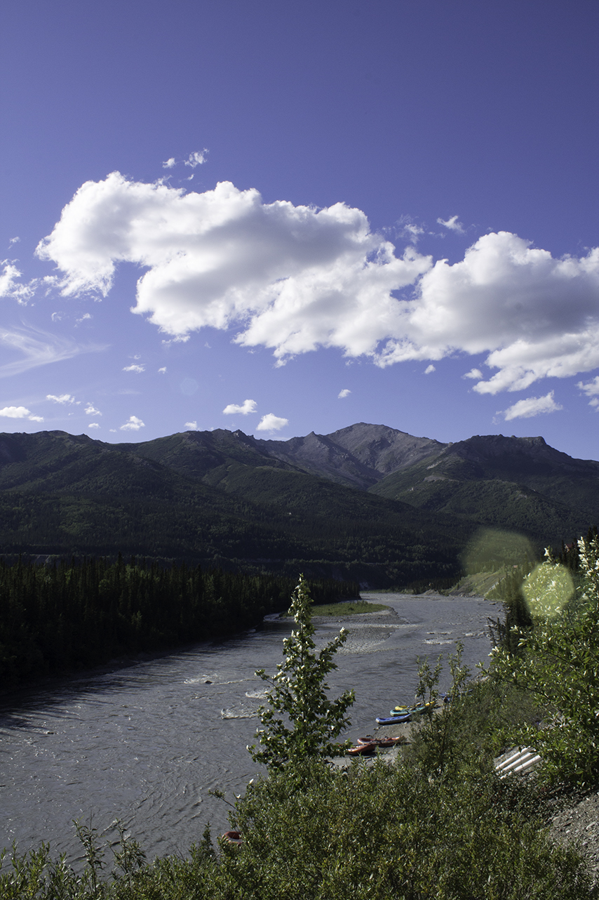 Overlooking Nenana River, just outside Denali National Park