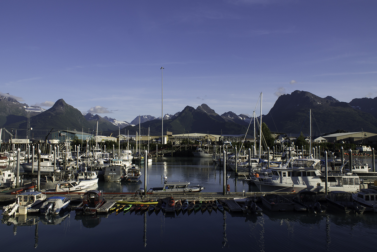 The small boat harbor in Valdez