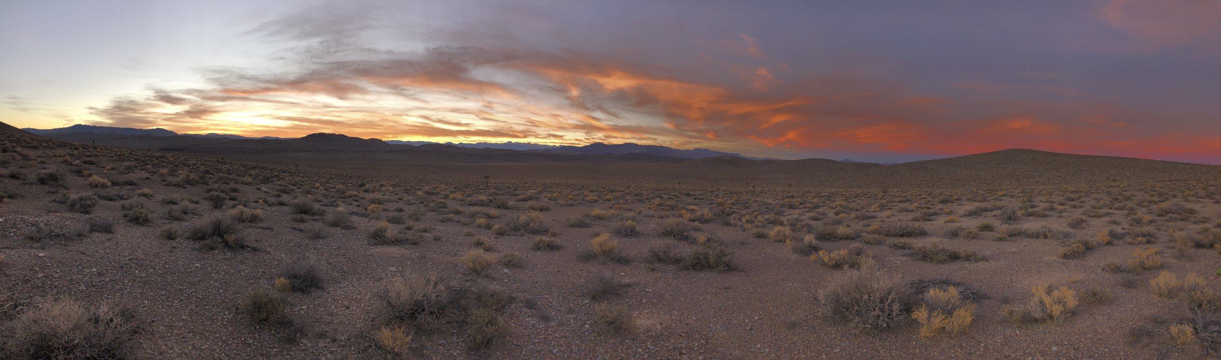 Sunset just outside Death Valley National Park, California.