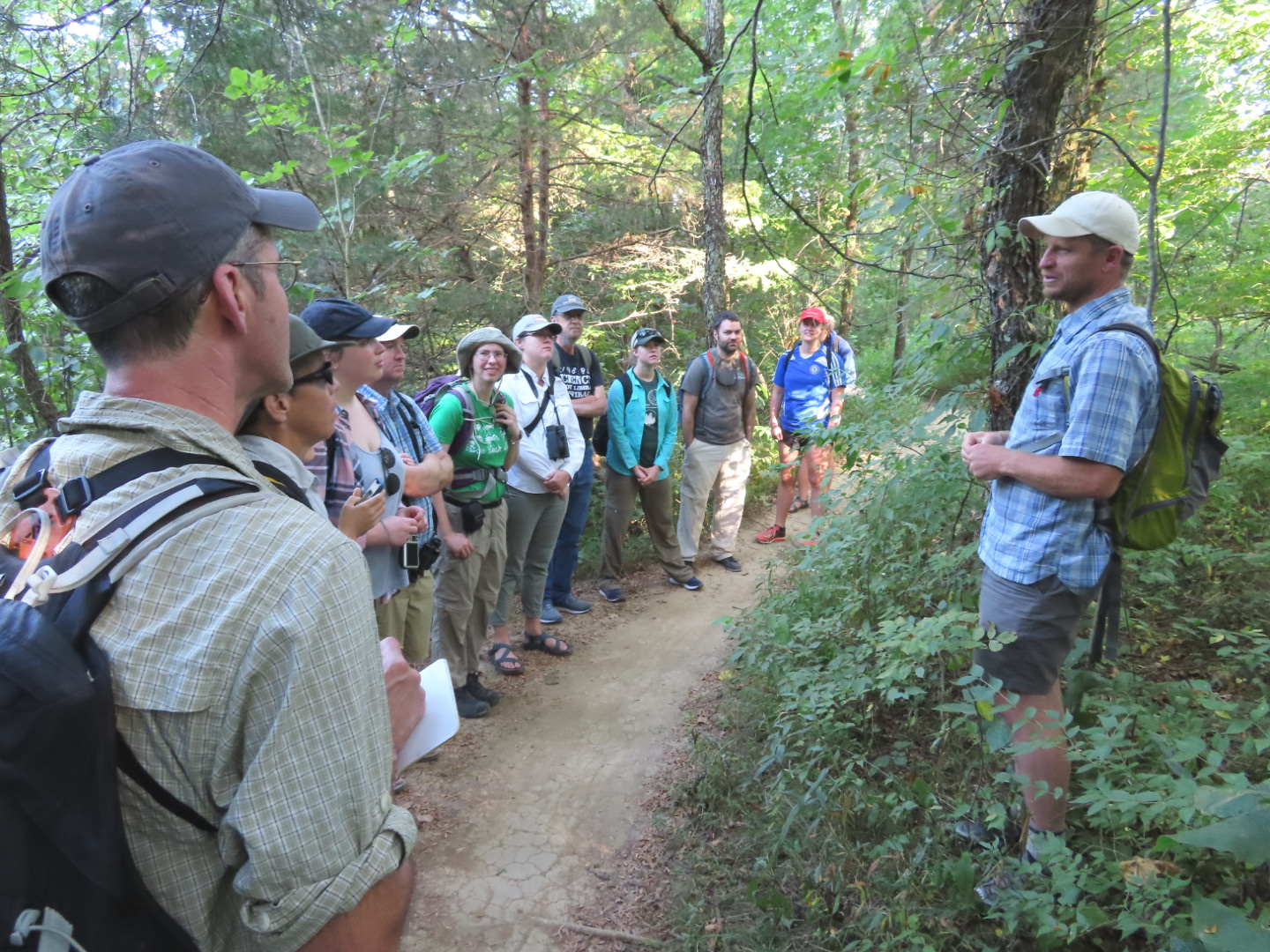 Mike Gaige translates the stories of the land in the Parklands of Floyds Fork.