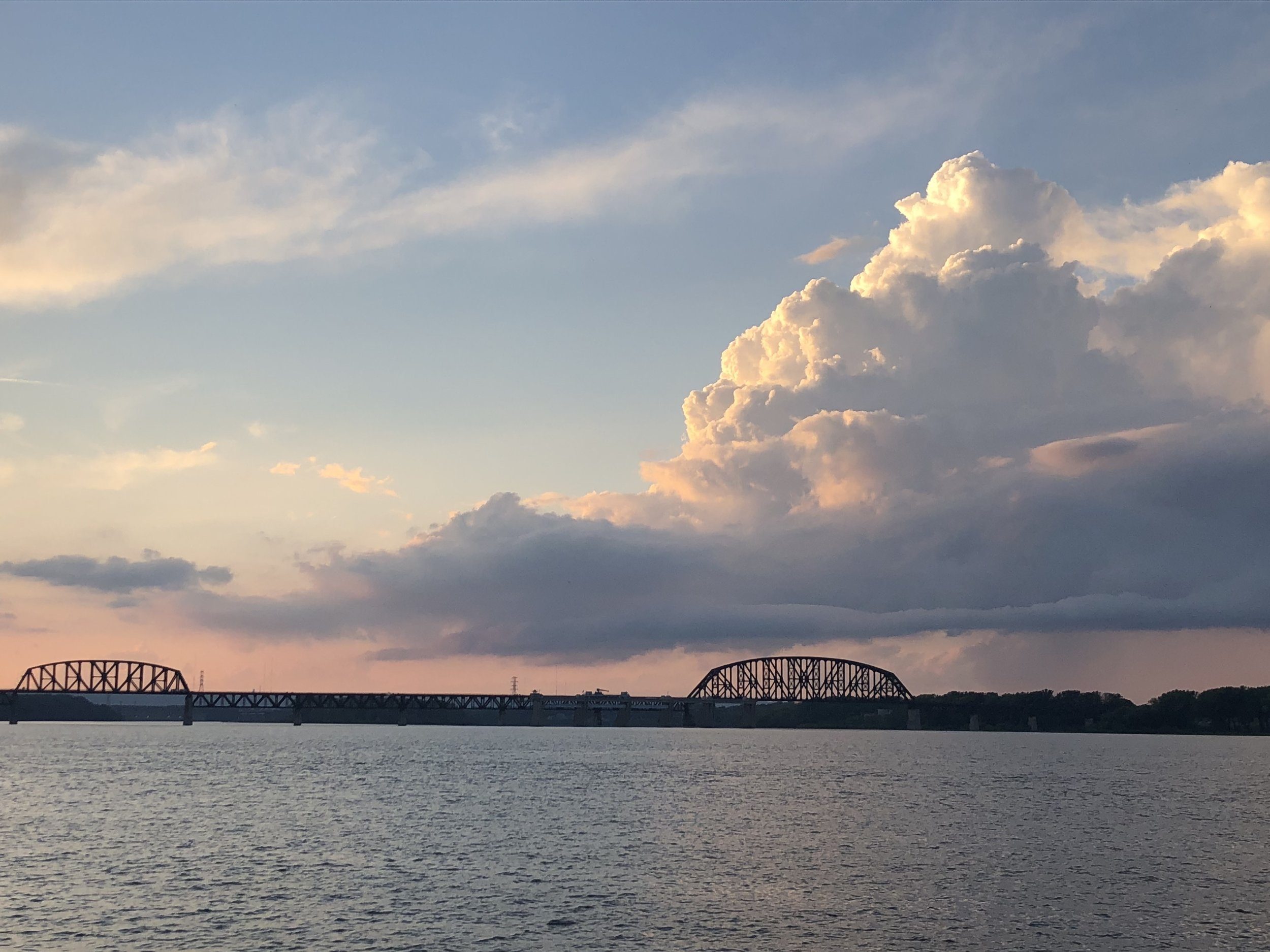 On the banks of the Ohio River, Louisville.