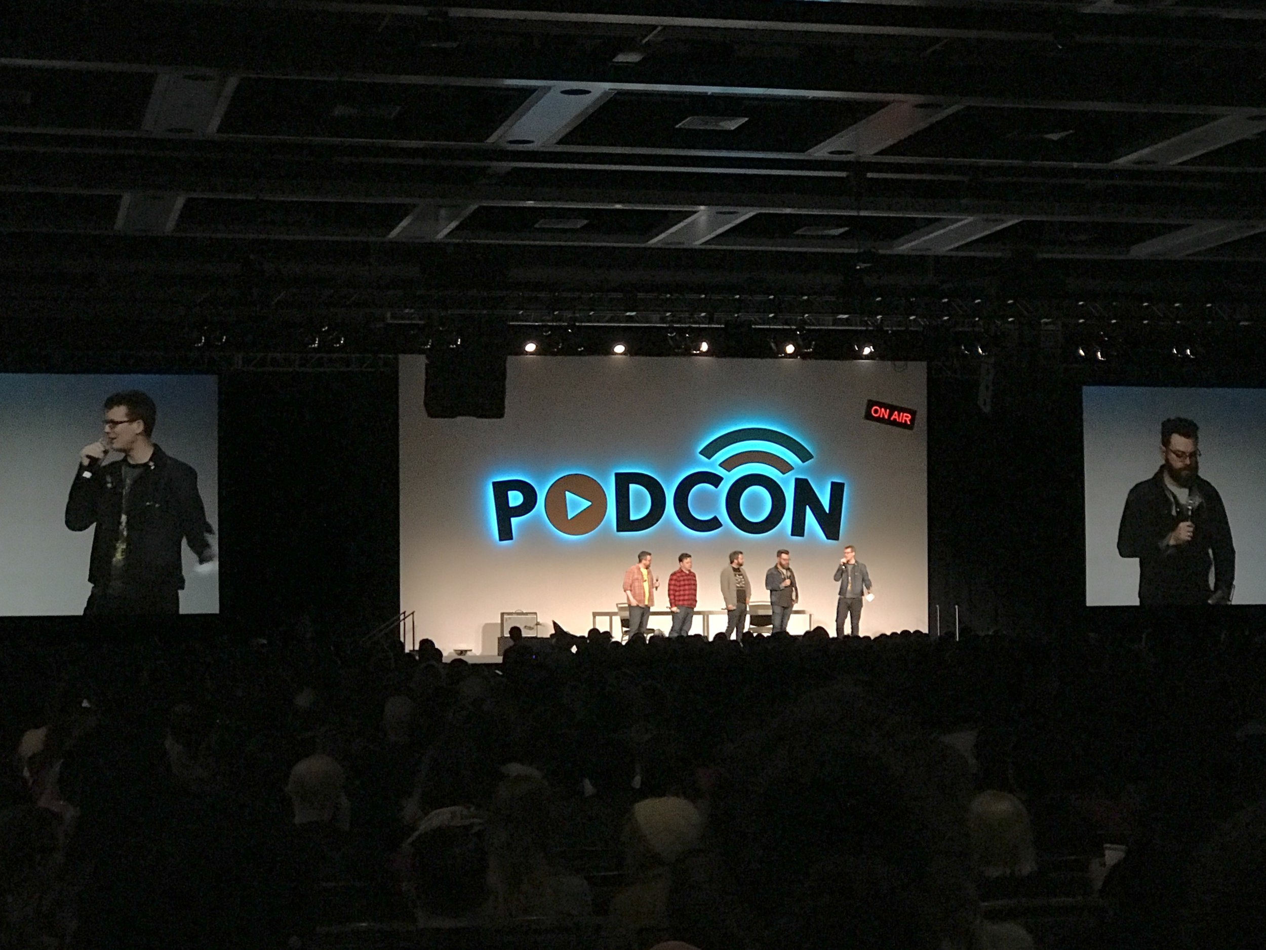 Opening session of the first annual Podcon.