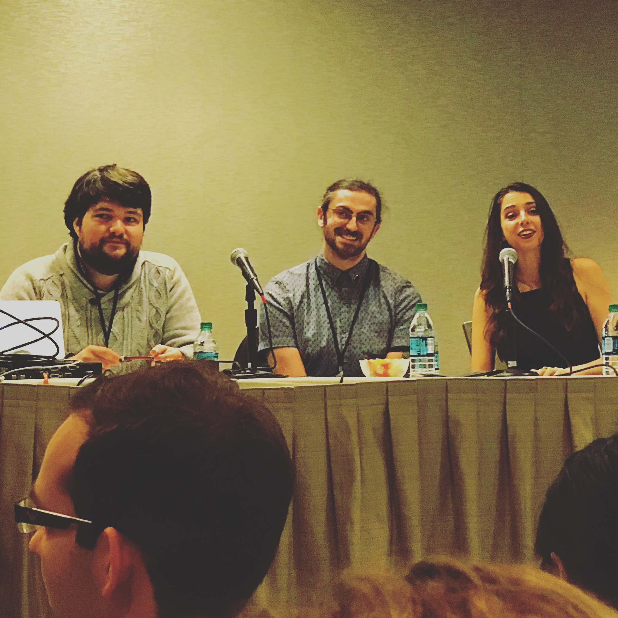 Creators of ars Paradoxica Daniel Manning, and Mischa Stanton, with writer and creator of The Far Meridian Eli Baraza