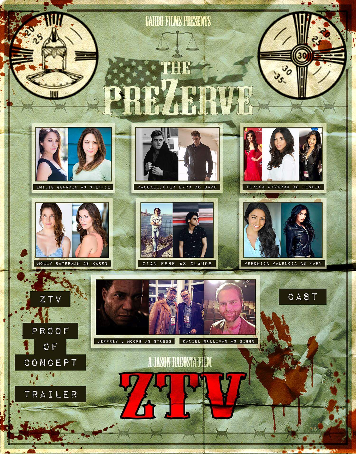 Behold our amazing cast for the ZTV proof of concept trailer shoot! We can't wait to spray copious amounts of blood on these folks!  Click to enlarge