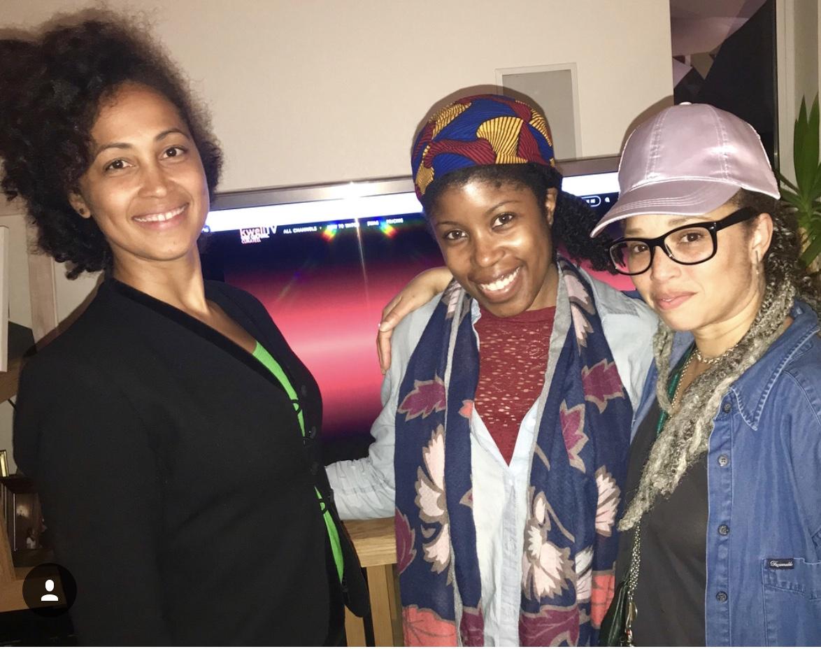 These budding media moguls from L to R  Shirah Dedman , Kweli founder DeShuna Spencer and  Maria Judice