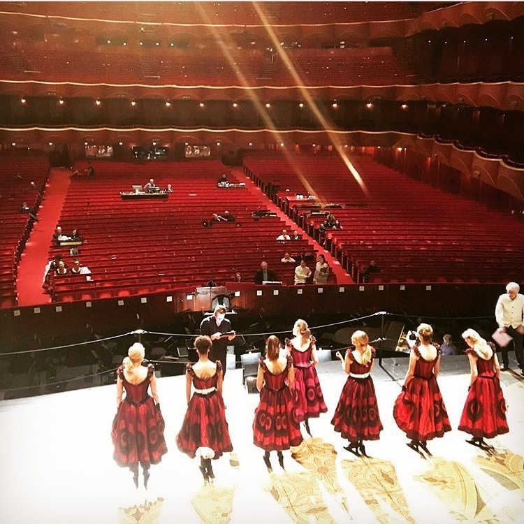 Tech rehearsal for Susan Stroman's  The Merry Widow  at The Metropolitan Opera.