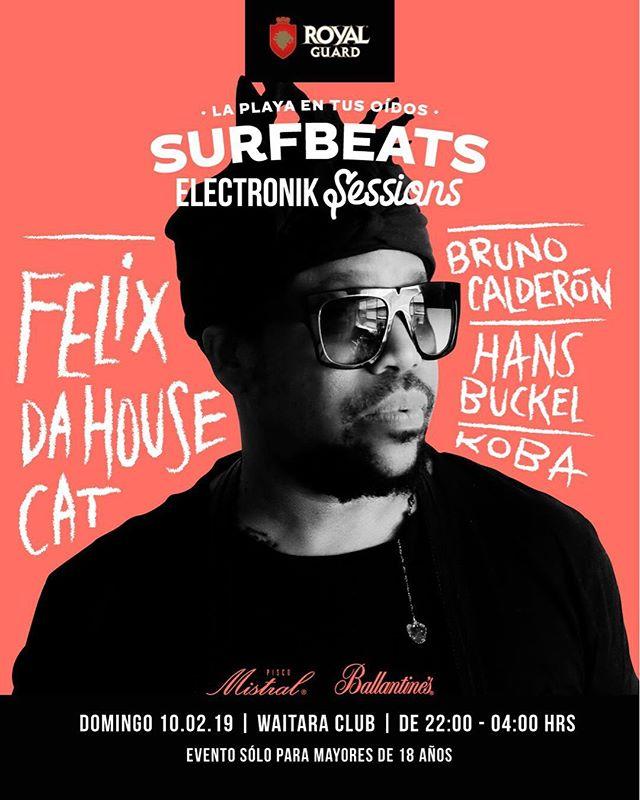 Este domingo estaré junto a la leyenda Felix da Housecat en la capital del Surf 🏄. Nos vemos en Waitara! ➖ #pichilemu