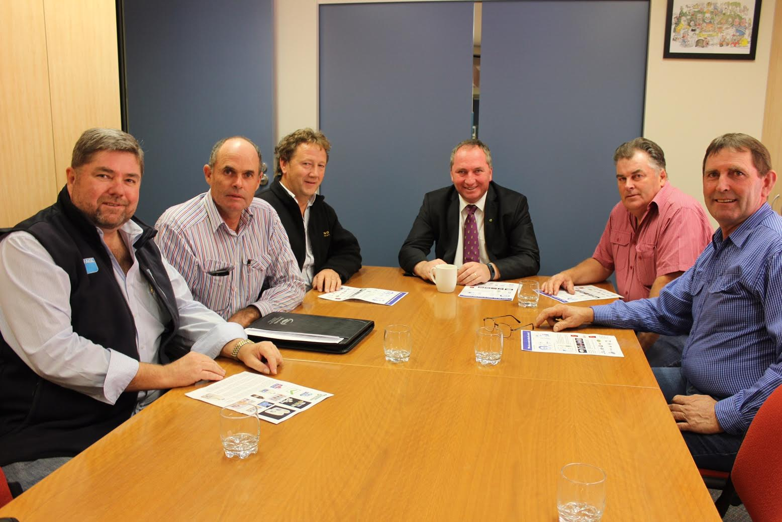 Dairy Connect's Shaughn Morgan and Graham Forbes meeting with Agricultural Minister Barnaby Joyce MP