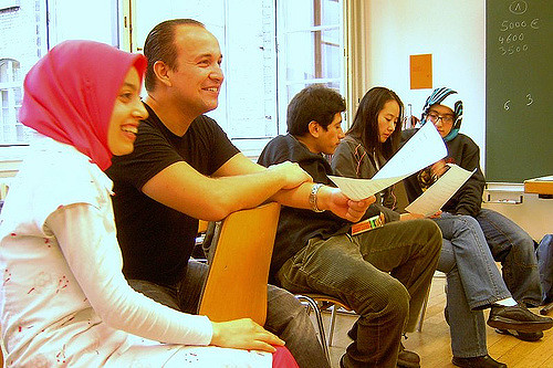 Connecting refugees with the Goethe Institut for free German language classes -