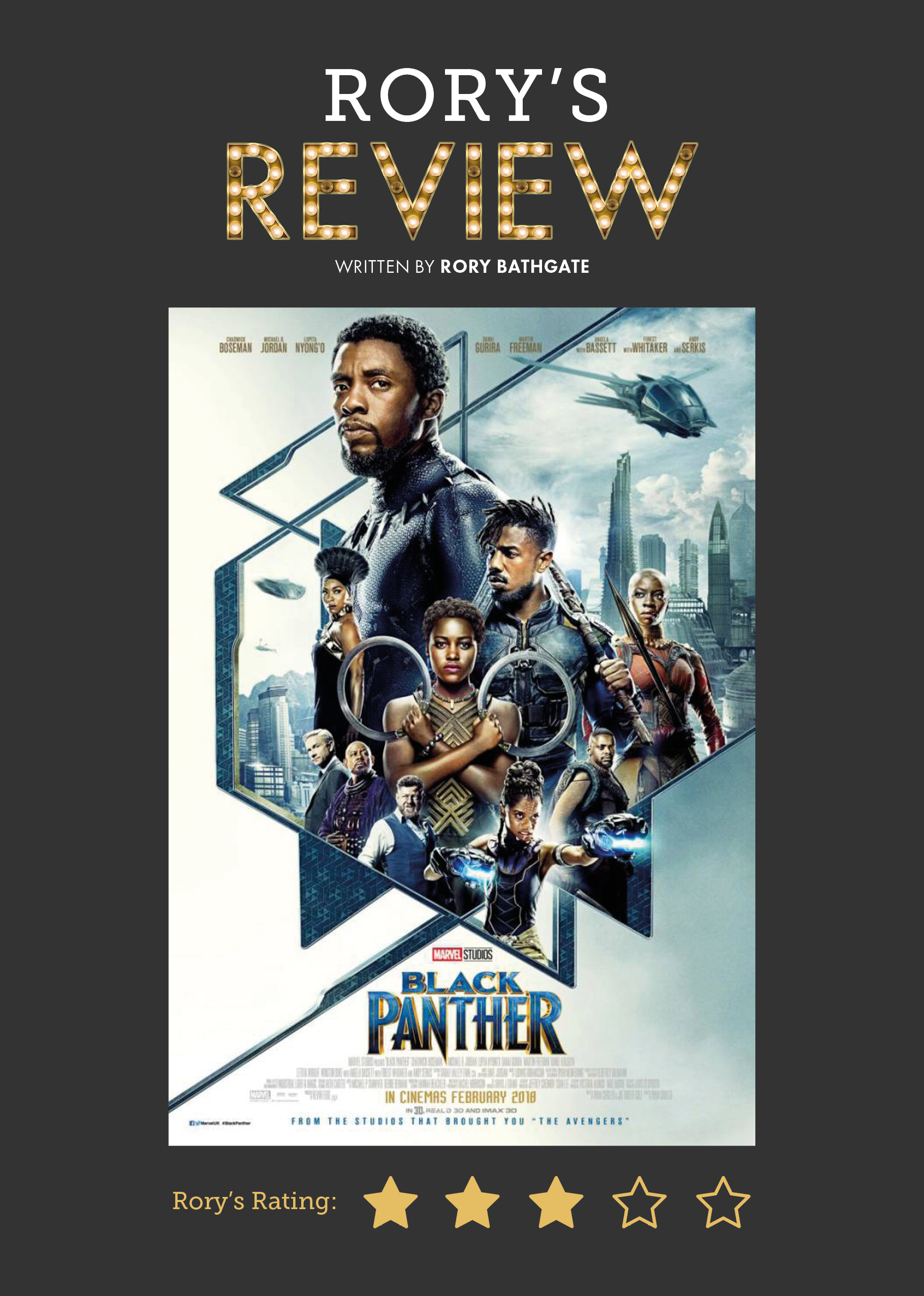 black panther, movie review, student review, rory bathgate