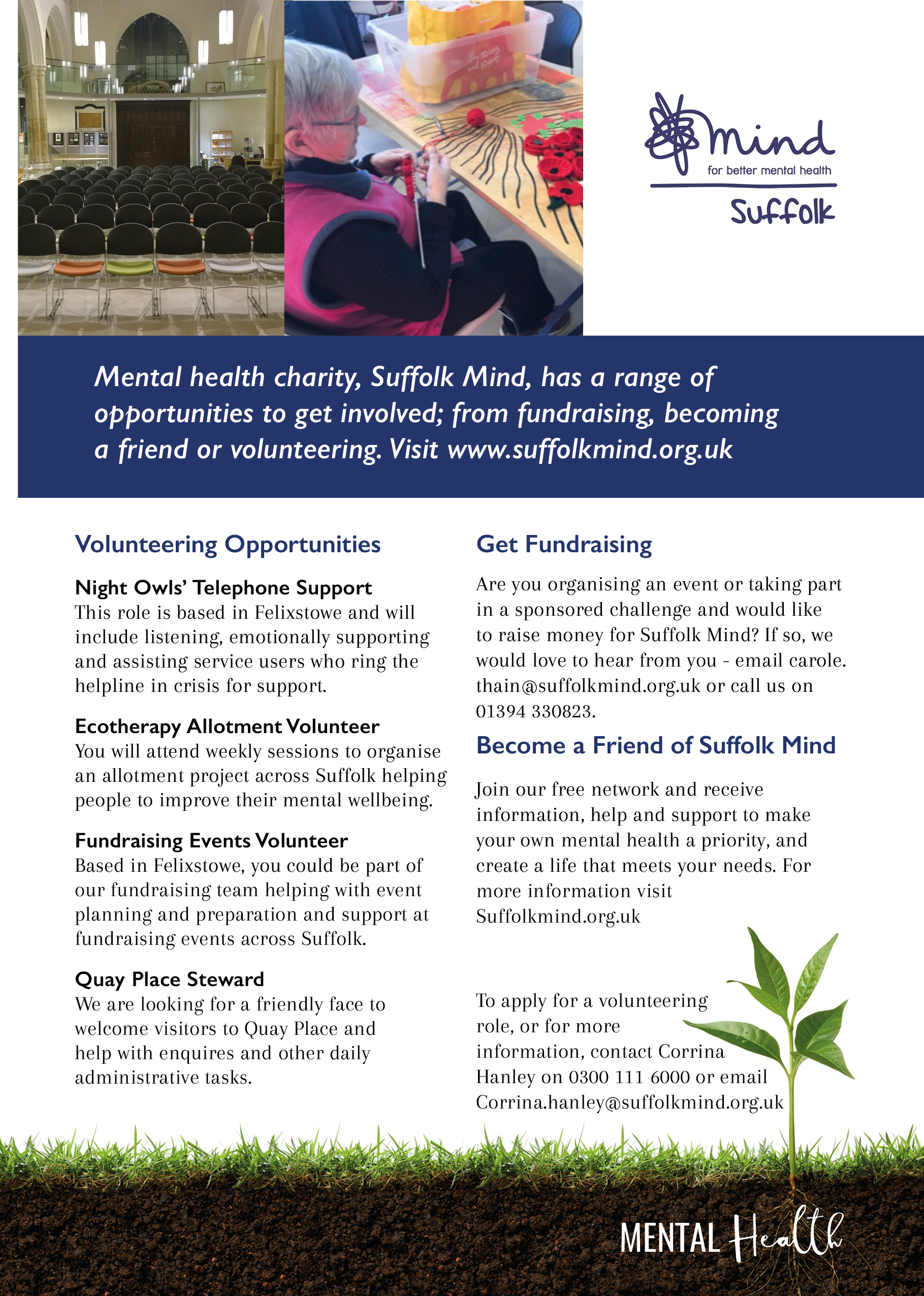 suffolk mind, quay place, ipswich, mental health, april 2018