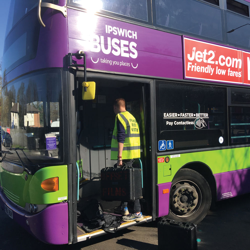 Filming at Ipswich Buses maintenance depot on Wednesday 27 February. Our grateful thanks to Ipswich Buses.