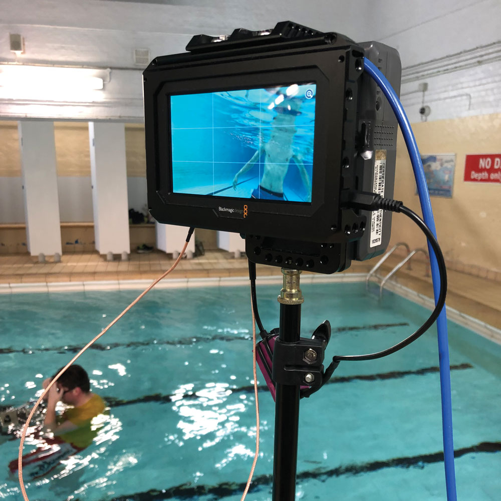 Filming at Fore Street swimming pool on Saturday 2 March. Our grateful thanks to Ipswich Borough Council.