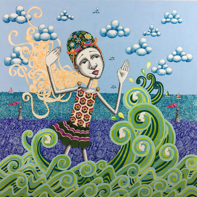 """""""The Swimmer"""" - Goddess #25"""