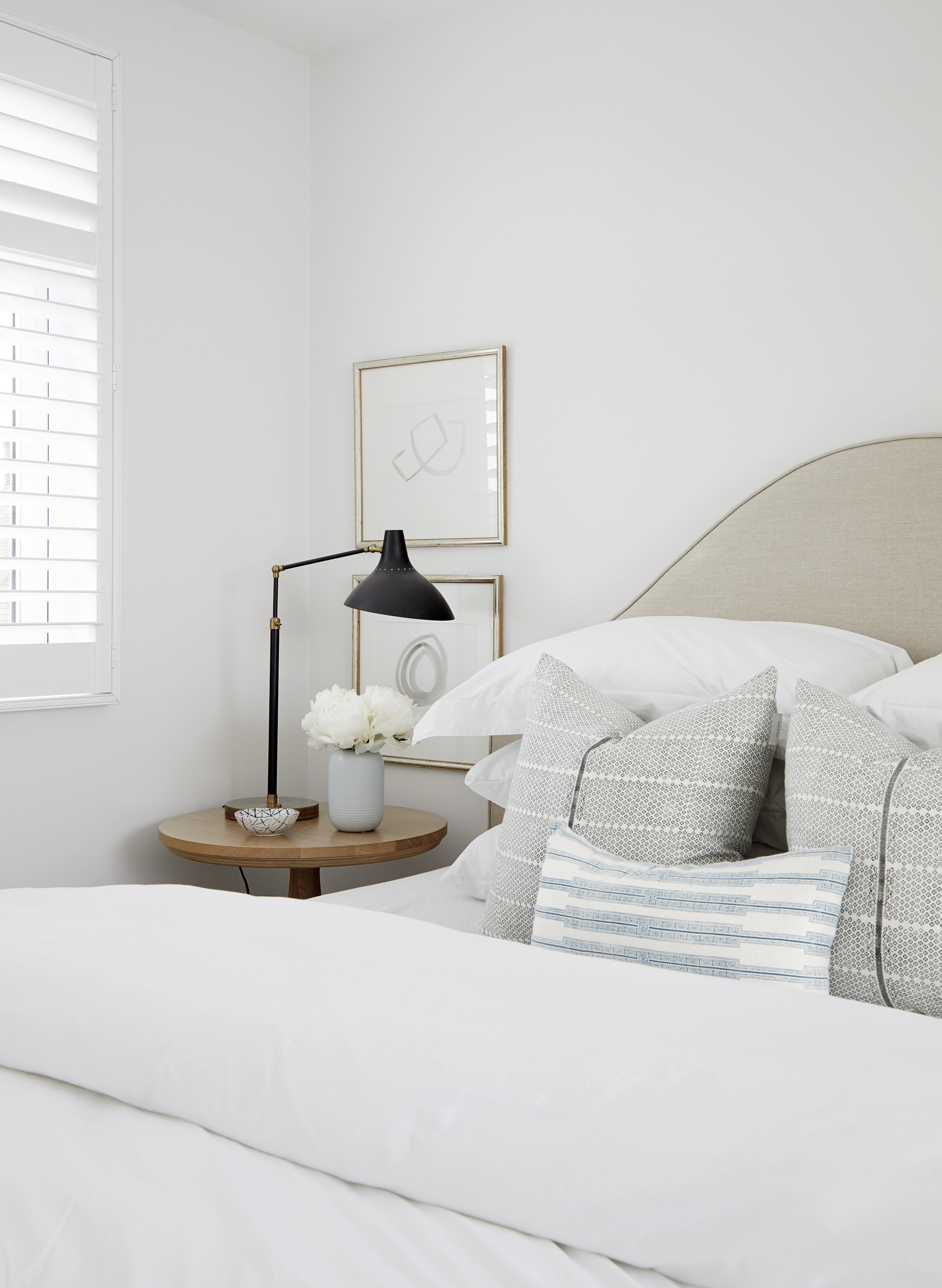 Tranquil Bedroom design by London based interior designer Donnie Wales Interiors