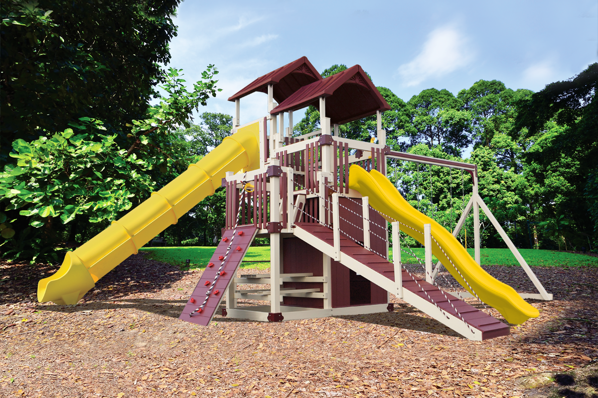 RL-10 Cliff Lookout Playset - Price: $13,677 Free Installation!