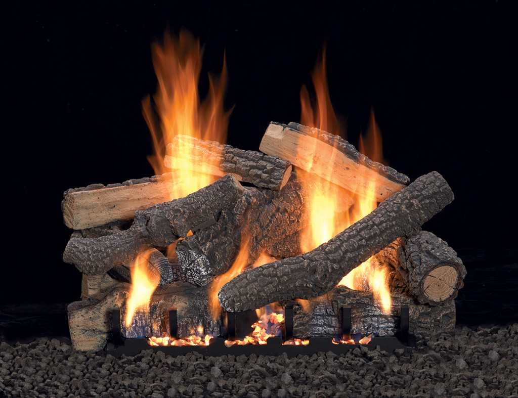 Vent-Free Slope Gaze Burners and Matching Log Sets - Our popular Slope Glaze Burners raise the standard for dancing flames