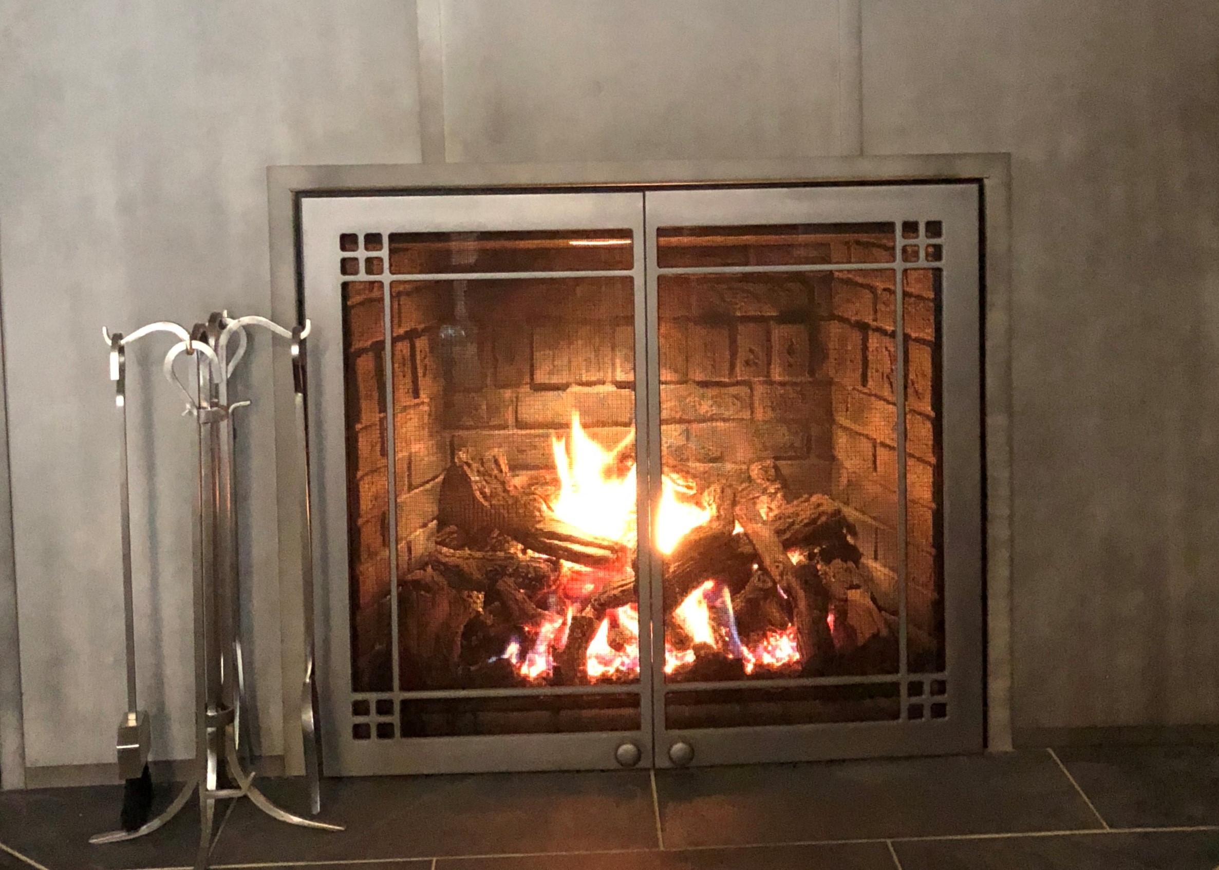 FullView 46 Gas Fireplace w/ Titanium Doors - Large Viewing Area, Brick Kit, Doors, Full Function Remote, Split Burner, Spotlight &45,500 BTUs of Heat. Includes Installation (gas & electric extra).Save $1,200