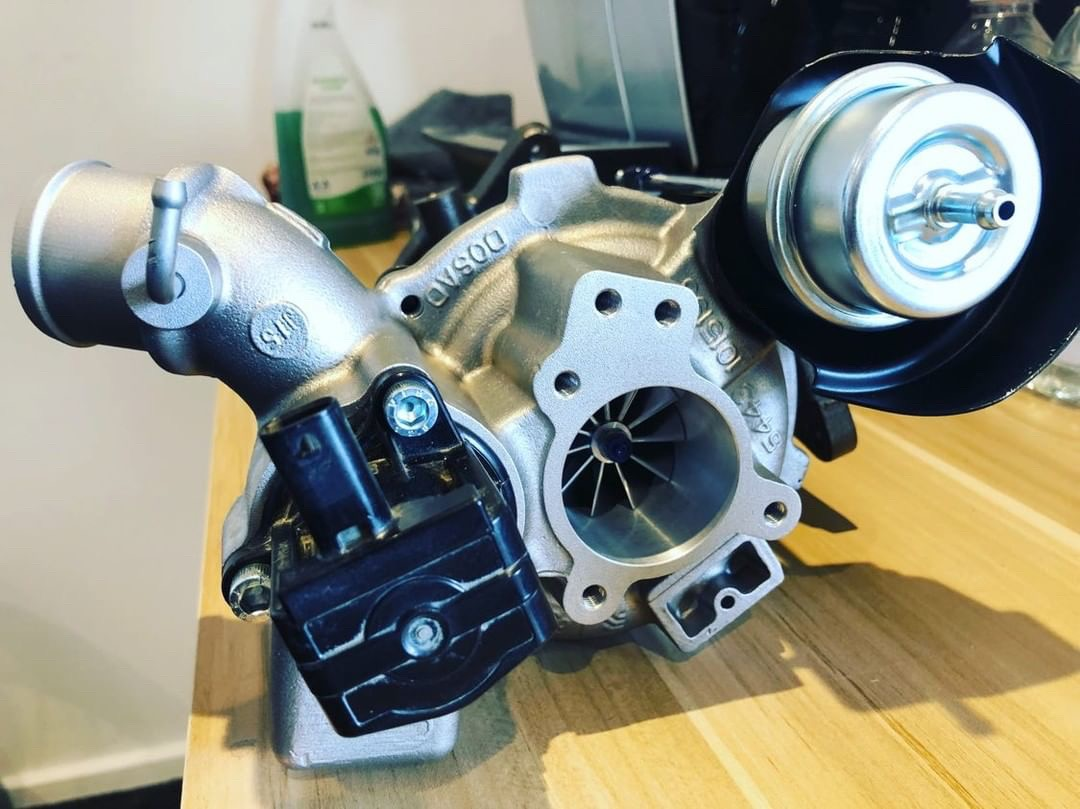 Our own custom spec Hybrid Turbo for our development Fiesta ST200