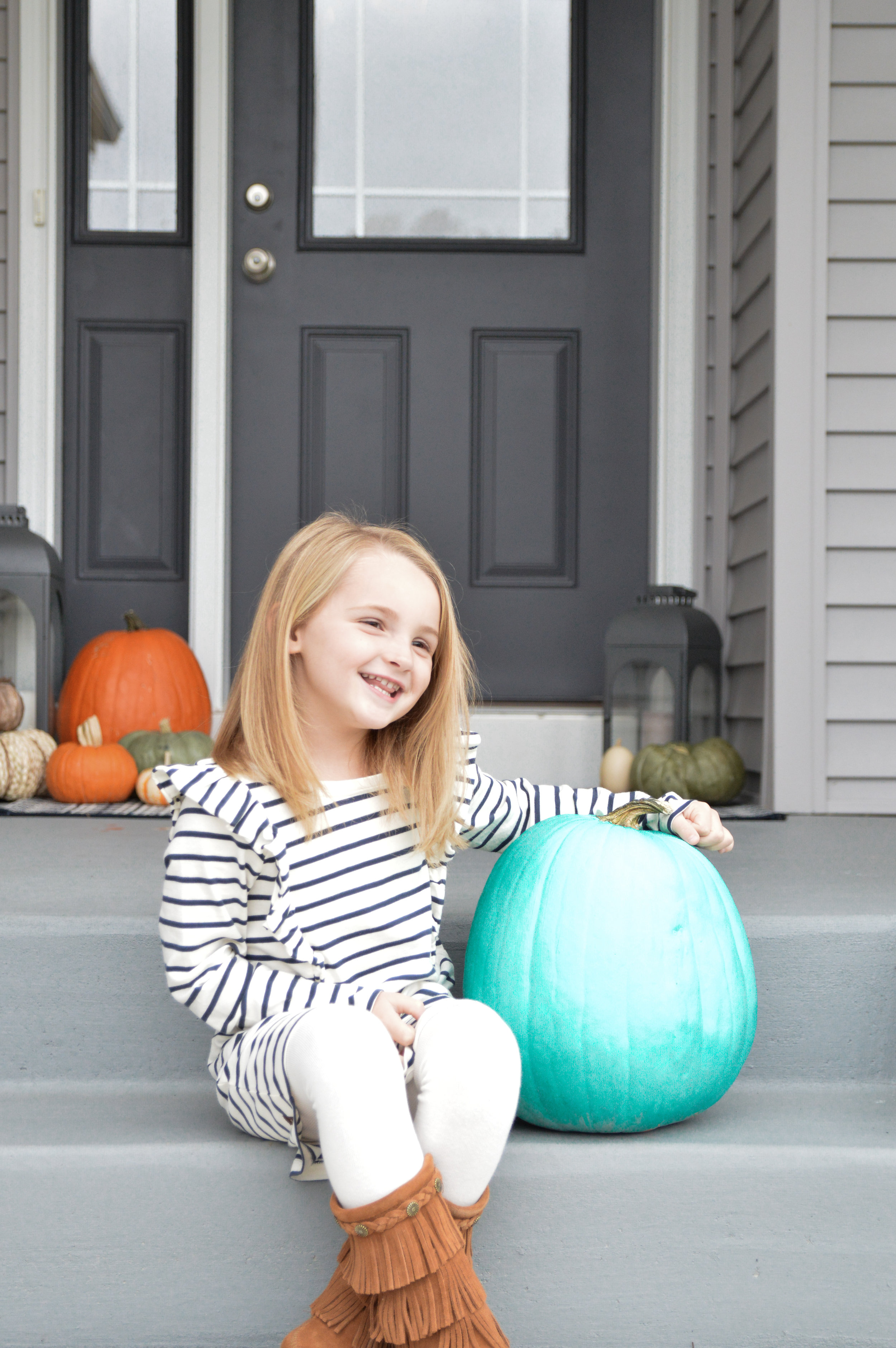 Just a girl and her Teal Pumpkin.