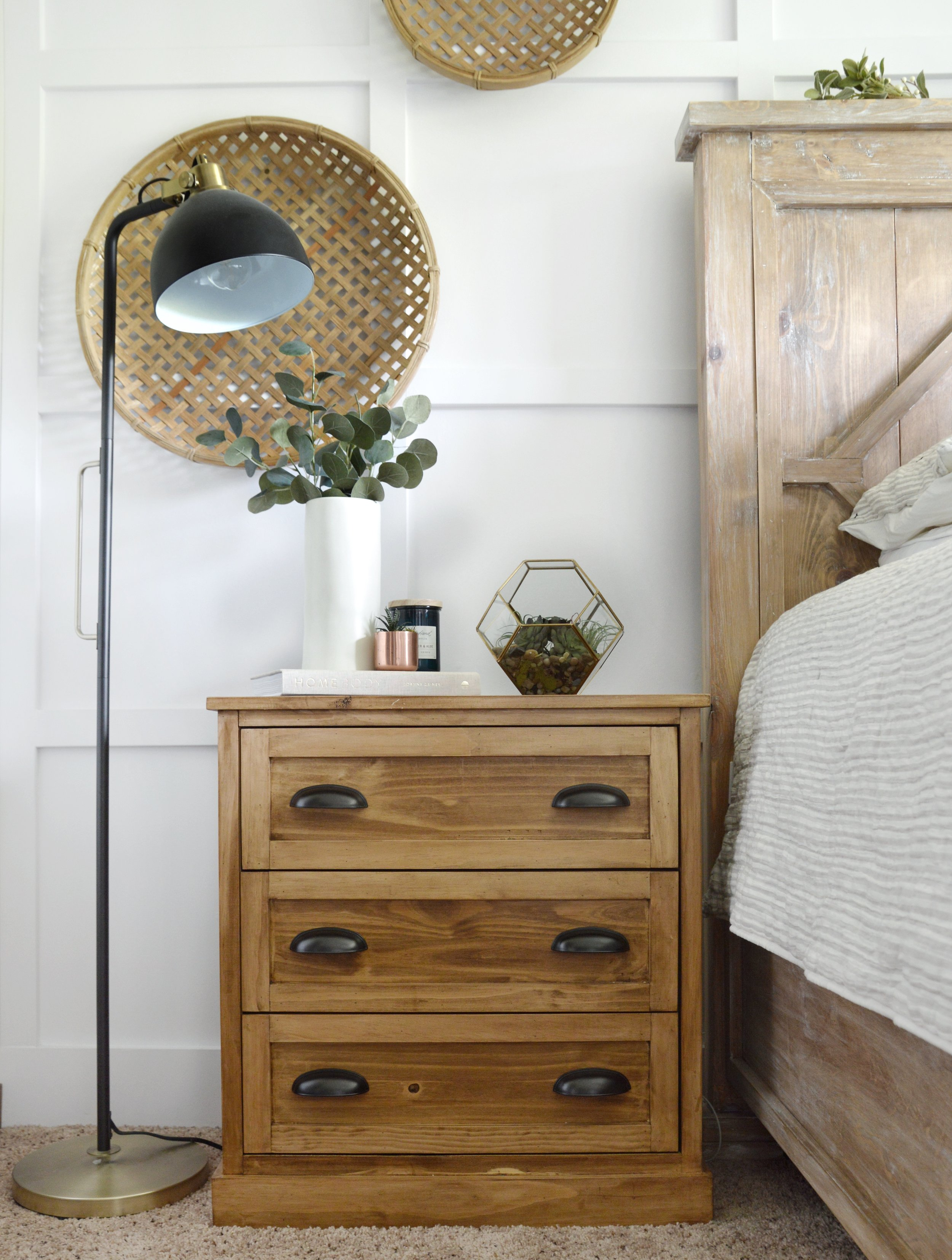 After adding a few personal touches, this Ikea Rast nightstand hack is the perfect compliment to our master bedroom.