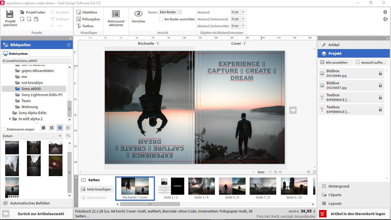 Screenshot of the Saal Design Software Editor