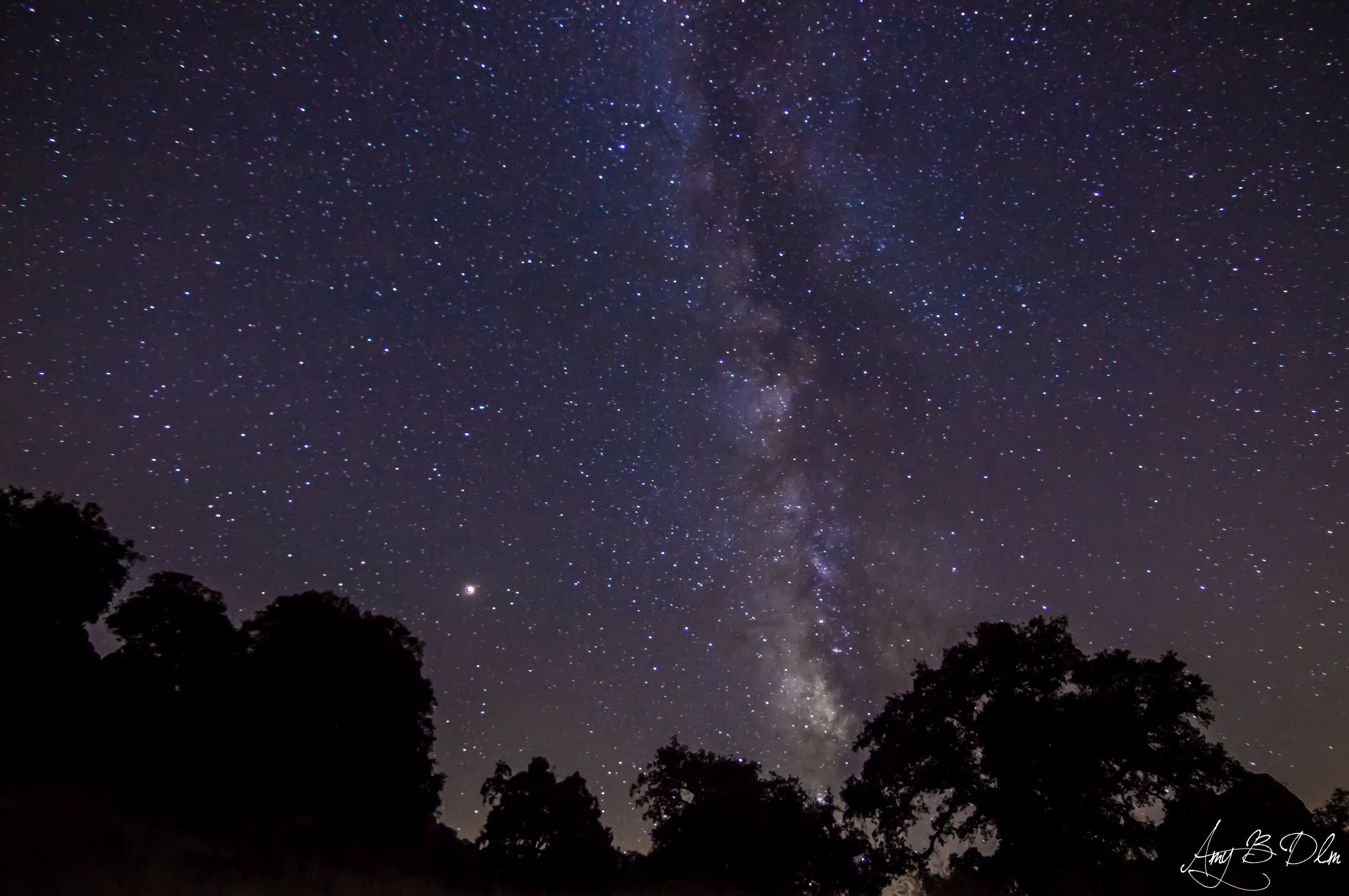 Photo of Mars and the milky way taken this week by Amy, one of our volunteers.  Amy B Dlm Photography