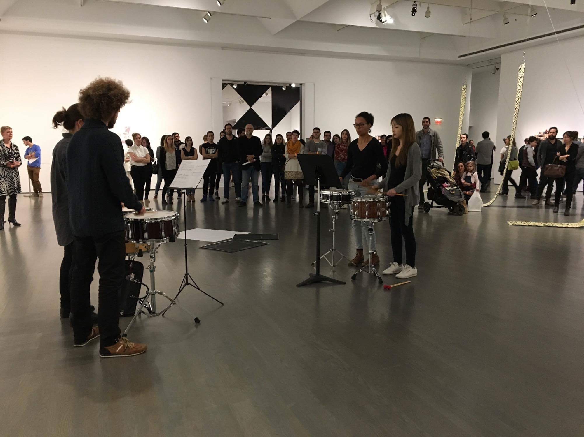 Free Exercise , performance view, performance view, Musée d'art contemporain/biennale de Montréal, 2016