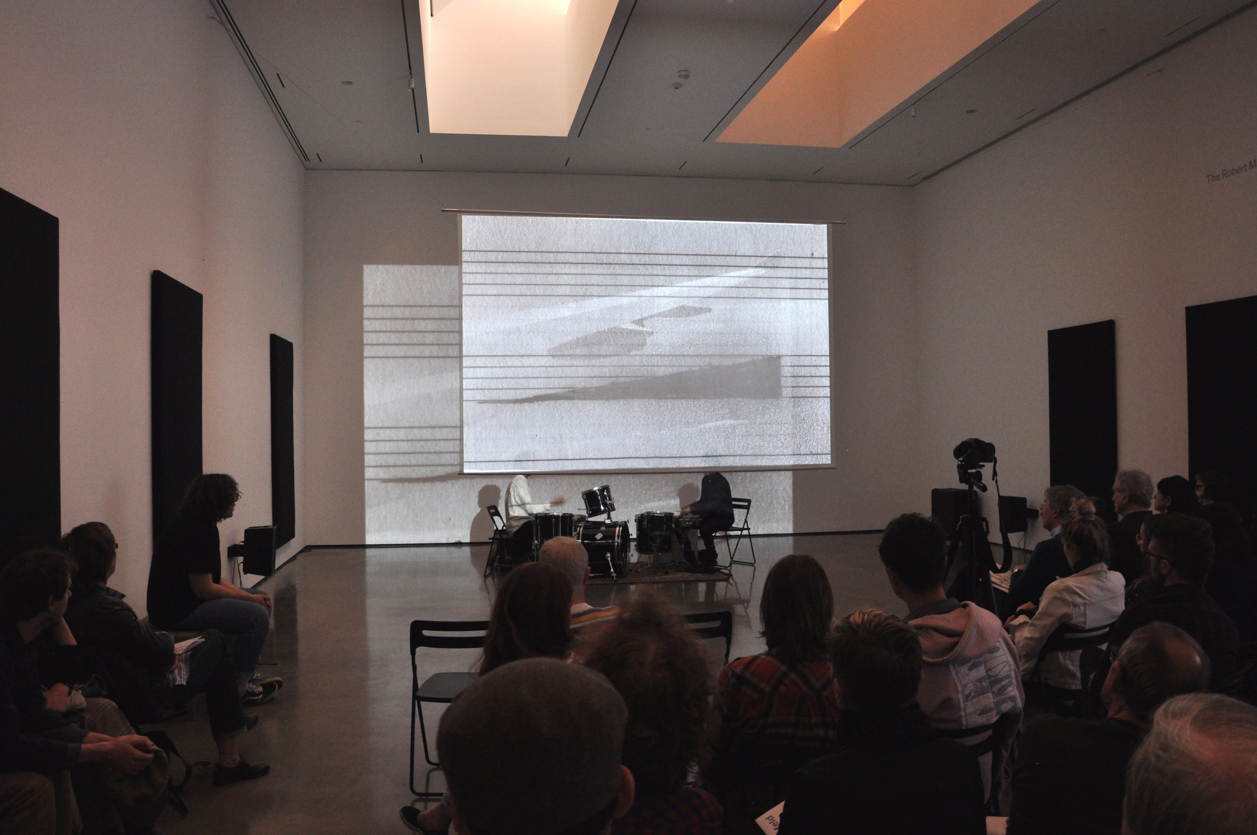 Performance of  My red red blood by Greg Fox and Elie Keszler, Bard Center for Curatorial Studies, 2017
