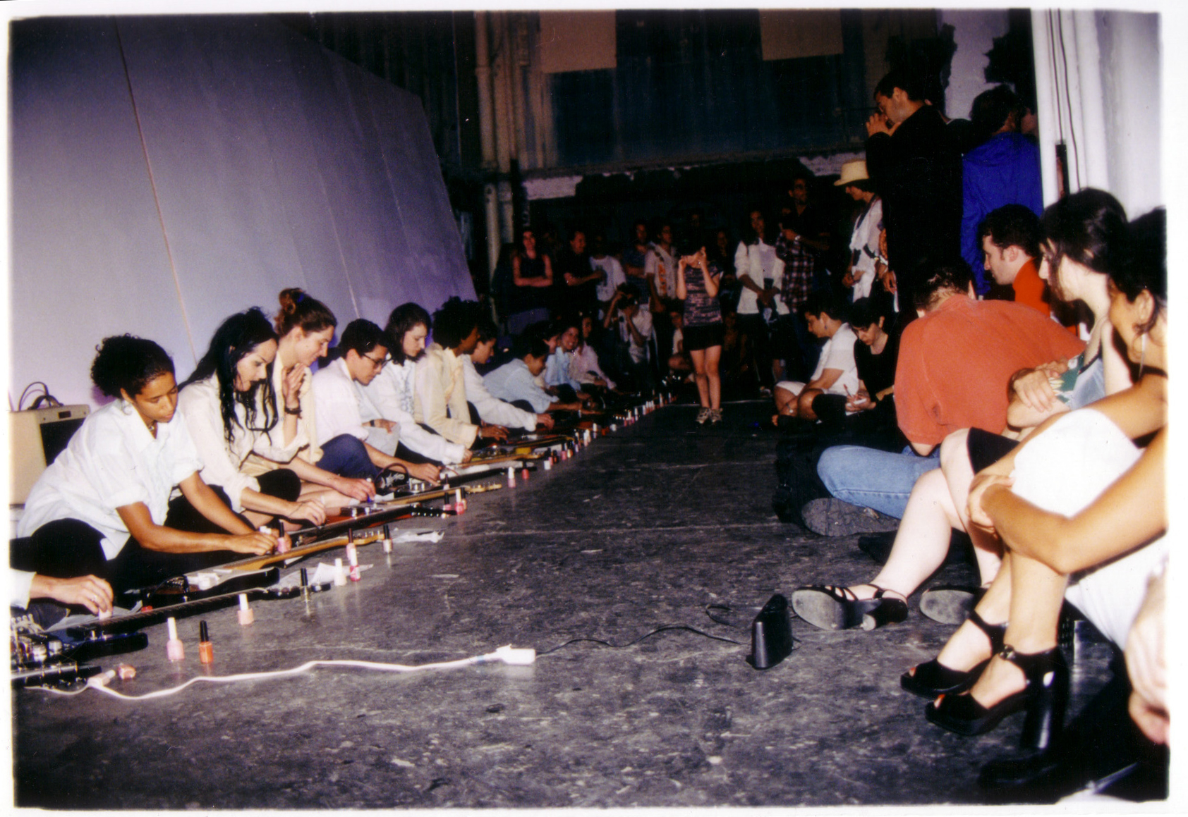 Sheer Frost Orchestra, Greene Naftali Gallery, performance view with Beth Coleman, Kembra Pfahler, Marina Rosenfeld, Brooke Williams, others, New York, 1997