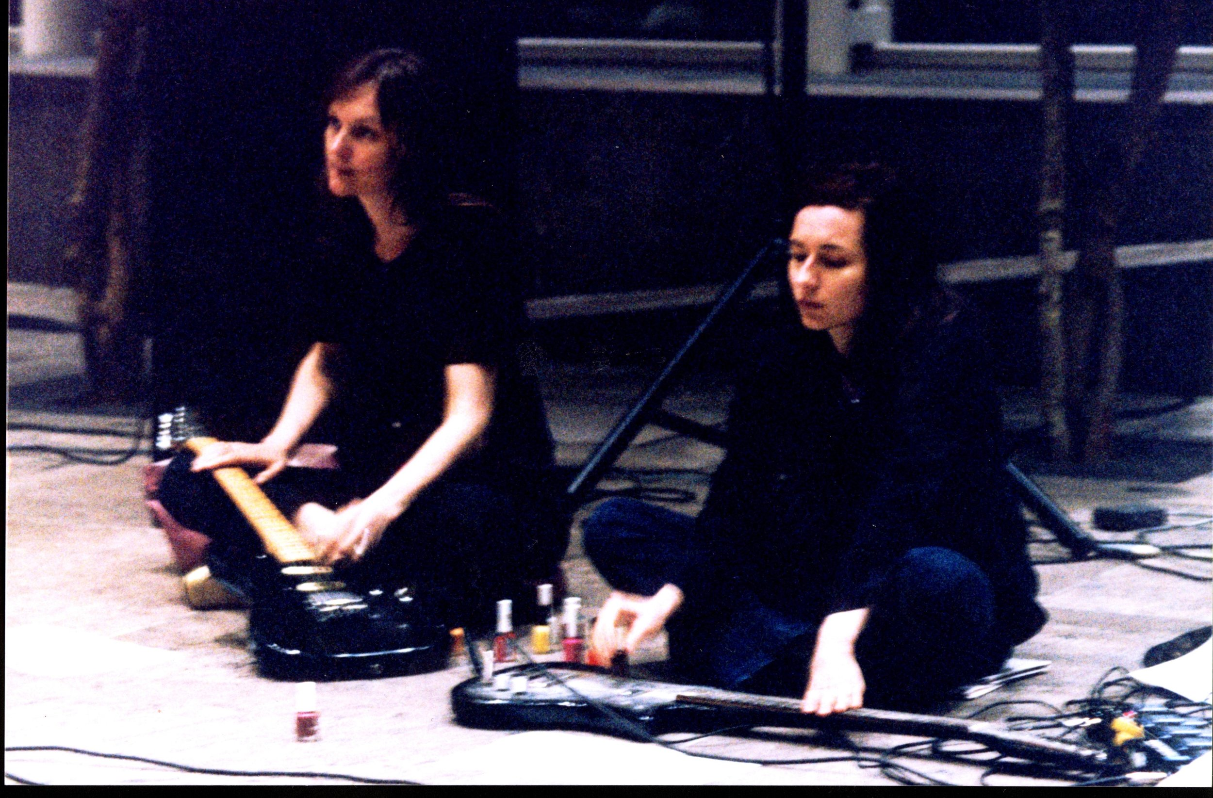 Sheer Frost Orchestra, rehearsal view, Whitney Museum at Philip Morris, 2001. Photo by Sam Samore