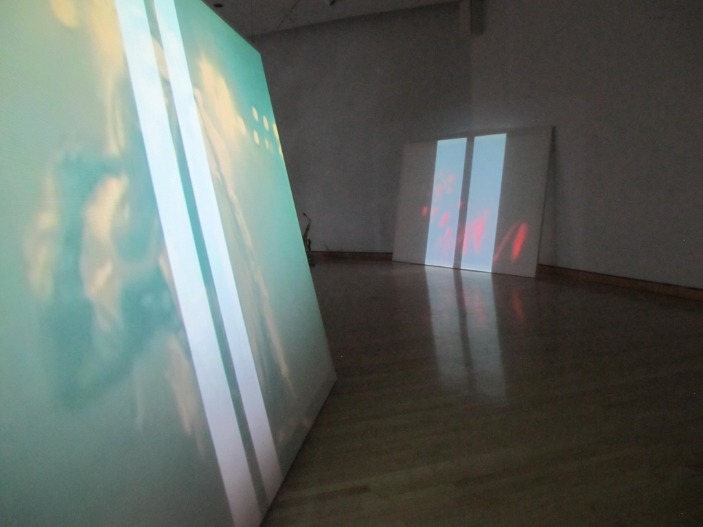 WHITE LINES, 20012, installation view, MidAmerican Center for Contemporary Music, Bowling Green State University, 2012