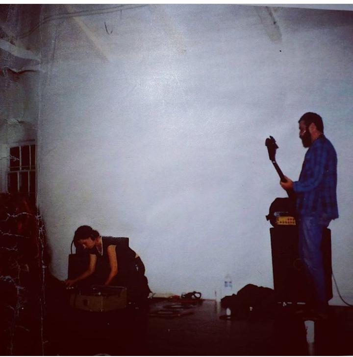 Mike Watt and Marina Rosenfeld circa 1996