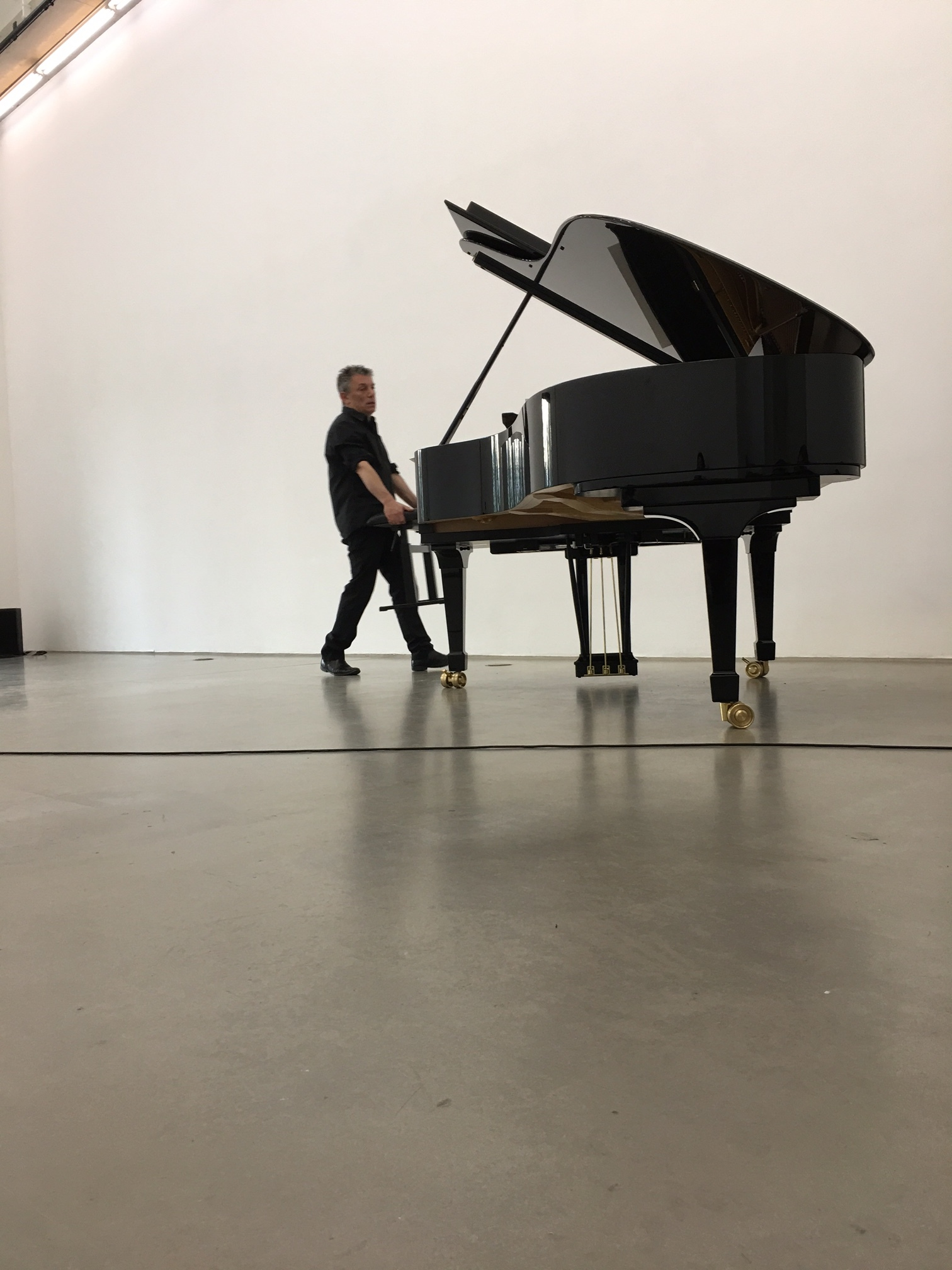 Deathstar,  exhiibition/performance view, with Marino Formenti, piano., Portikus, 2017