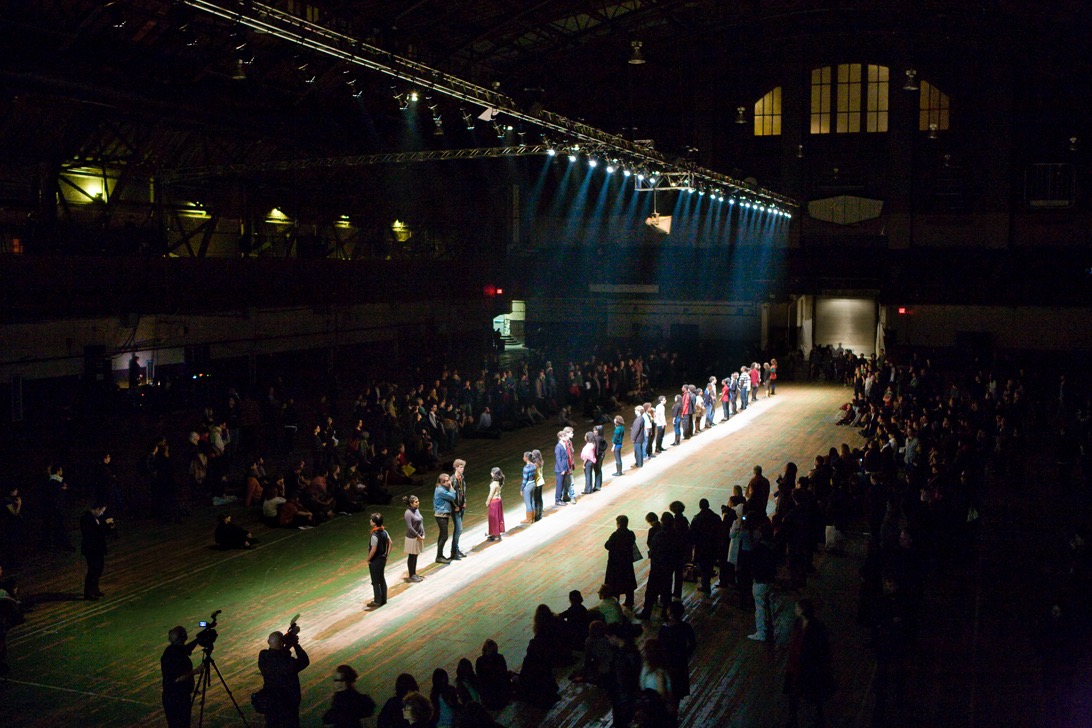 Teenage Lontano, 2008, performance/installation view, Whitney Biennial, Park Avenue Armory, New York