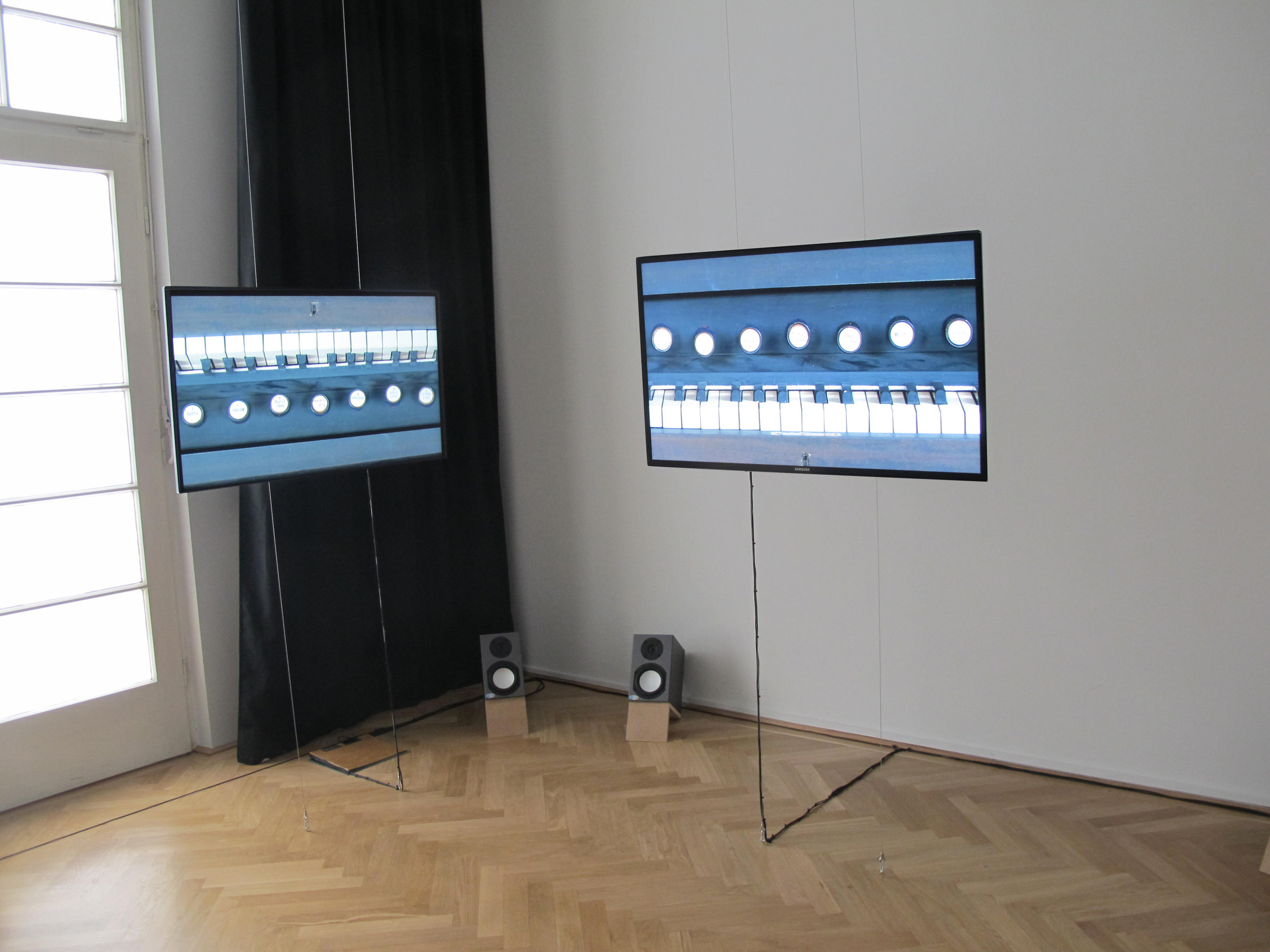 "Six Inversions (After Arnold Schoenberg) , exhibition ""Art is: New Art,"" at Arnold Schönberg Center, Vienna, Austria"